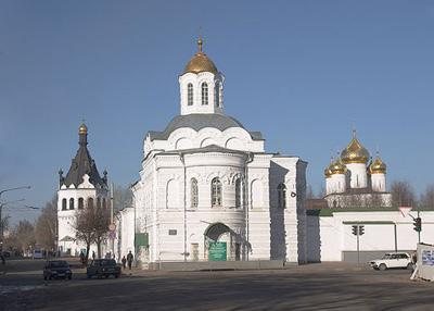 Кострома. Богоявленско-Анастасиин монастырь .Вид с ул. Пятницкой