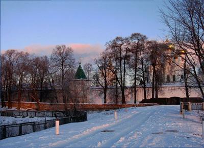 Кострома. Ипатьевский монастырь .Зимний вечер