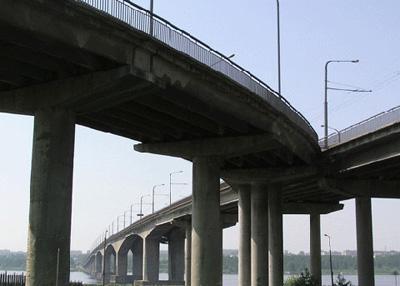 Кострома. Мост через реку Волгу .Вид с ул. Кооперации