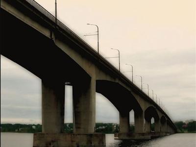 Кострома. Мост через реку Волгу .Мост через реку Волгу