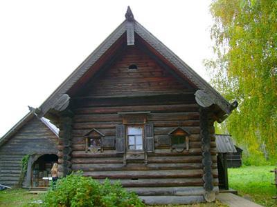 Кострома. Музей деревянного зодчества .Дом Лоховой из д. Вашкино