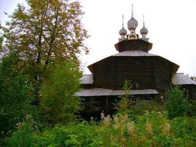 Кострома. Музей деревянного зодчества .Церковь Собора Богородицы из с. Холм