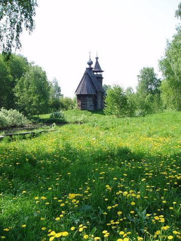 Кострома. Музей деревянного зодчества .Церковь Спаса из с. Фоминское