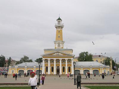 Кострома. Сусанинская площадь .Пожарная каланча