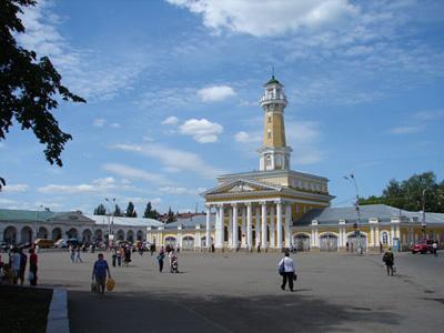 Кострома. Сусанинская площадь .Вид на Торговые ряды