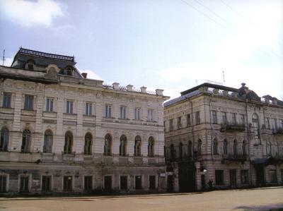 Кострома. Улицы города .Вид с ул.Симановского на Доходные дома И.П. Третьякова
