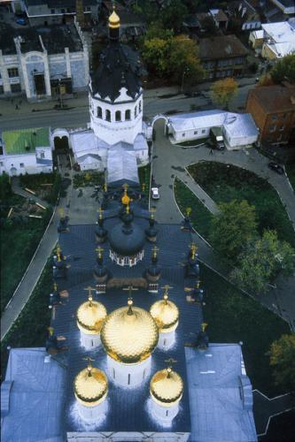 Кострома. Богоявленско-Анастасиин монастырь .Богоявленский-Анастасиин монастырь вид сверху