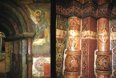 Кострома. Церковь Воскресения на Дебре .Резные детали портала