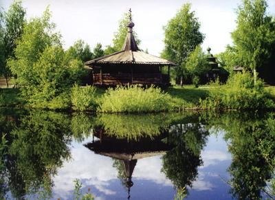 Кострома. Музей деревянного зодчества .Часовня д.Большое Ткарево