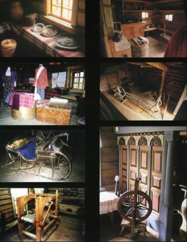 Кострома. Музей деревянного зодчества .Интерьер музея народной архитектуры и быта