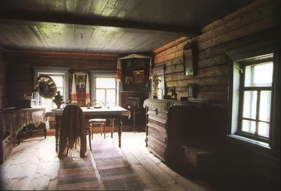 Кострома. Музей деревянного зодчества .Интерьер крестьянской избы