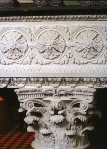 Кострома. Дворянское собрание .Лепной декор колонн