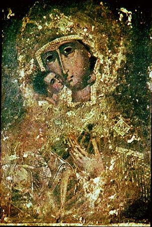 Кострома. Богоявленско-Анастасиин монастырь .Феодоровская икона Божьей Матери