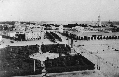 Кострома. Старинная Кострома .Вид с каланчи на Сусанинскую площадь