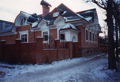 Кострома. Музей - усадьба льна и бересты .Музей зимой