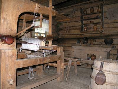 Кострома. Музей деревянного зодчества .Интерьер музея