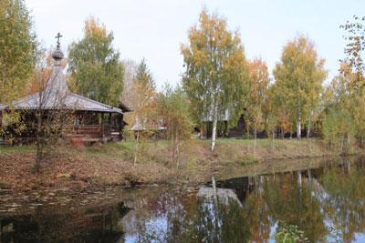Кострома. Музей деревянного зодчества .Дом в Музее деревянного зодчества