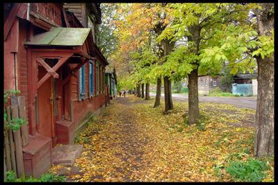 Кострома. Улицы города .Осенняя улица