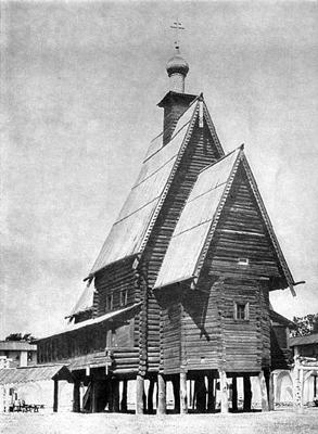 Кострома. Музей деревянного зодчества .Старинный дом в музее
