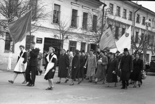 Кострома. Кострома 50-х годов .1 Мая 1958 г. Руководство школы