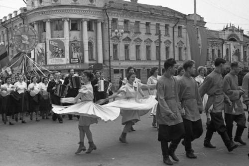 Кострома. Кострома 50-х годов .1 Мая 1958 г.
